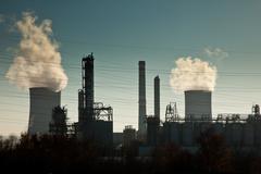 Industrial landscape Stock Photos