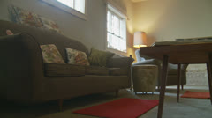 1960's living room (dolly 2) property release Stock Footage
