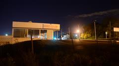 Abandoned Used Car Dealership 4K Motion Timelapse Stock Footage