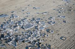 Stock Photo of shards of smashed ice