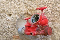 Red spigot Stock Photos