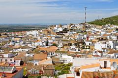 osuna rooftops, andalusia, spain - stock photo