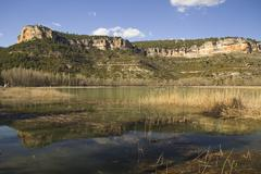Stock Photo of pond in range park of cuenca