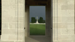 The CWGC Mill Road Cemetery, Somme, Picardy, France. Stock Footage