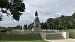51st Division Memorial, Newfoundland Memorial Park, Somme, France. Stock Footage