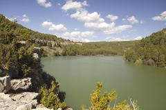 toba reservoir, cuenca, spain - stock photo