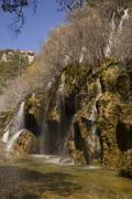 Cuervo cascade, cuenca, spain Stock Photos