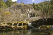 Stock Photo of cuervo cascade, cuenca, spain
