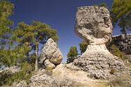 Stock Photo of limestone rocks in cuenca, spain