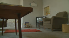 1960's living room (dolly 3) property release Stock Footage