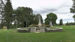 Hunter's Cemetery, Newfoundland Memorial Park, Somme, France. Stock Footage