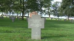 Rancourt German Military (Soldatenfriedhof) Cemetery, Rancourt, Somme, France. Stock Footage