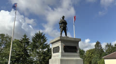 The Second Australian Division Memorial, Mont St Quentin, Somme, France. Stock Footage