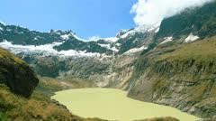 Altar volcano, Sangay National Park Ecuador time lapse, vertical panning Stock Footage