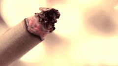 Smoking a cigarette Stock Footage