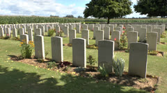 The CWGC La Chapellette British & Indian Cemetery, Somme, Picardy, France. Stock Footage