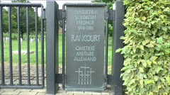 Rancourt German Military (Soldatenfriedhof) Cemetery, Rancourt, Somme, France. Stock Footage