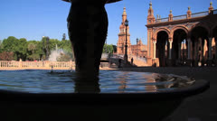 Plaza de españa in Seville spain Stock Footage