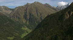 Aerial shot of mountains and valley, Tyrol / Austria Stock Footage