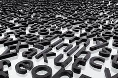Stock Illustration of Abstract alphabet letters