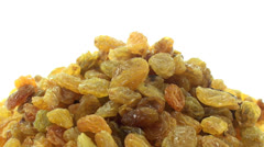 Stock Video Footage of Golden raisins zoom in