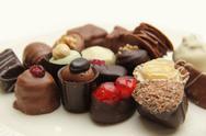Decorated chocolates Stock Photos