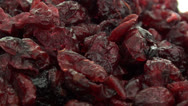 Stock Video Footage of Dried cranberries zoom out 2