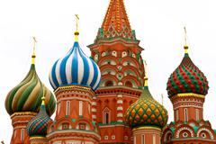 Saint Basil cathedral in Moscow - stock photo