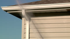 Power Washing Home Exterior Stock Footage