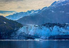 tidal glacier face in glacier bay national park. - stock photo