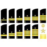 shoulder patches employees of the russian navy - stock illustration