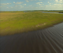 Aerial St. Johns River in Central Florida Stock Footage