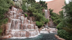 Waterfall outside the Wynn Las Vegas Resort Stock Footage