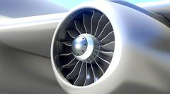 Stock Illustration of Closeup of Airplane Engine