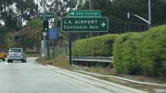 LAX Sign - stock footage