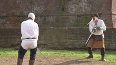 medieval sword duel 03 - stock footage