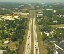 Aerial Interstate 4 in Central Florida 01 Stock Footage