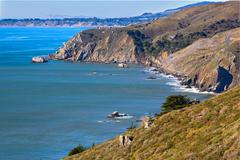California coastline in tamalpais state park, marin county Stock Photos