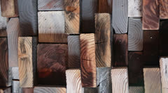 Woodblocks texture Stock Footage