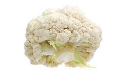 Cauliflower isolated on white Stock Photos