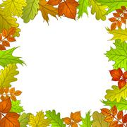 Framework from leaves - stock illustration