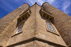 walls of broadway tower - stock photo