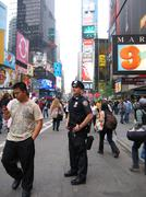 Policeman on Broadway in New York in USA Stock Photos