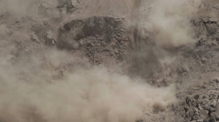 Earthquake causing landslides on a steep environment, Tungurahua province, Stock Footage