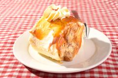 dulce cake slice - stock photo