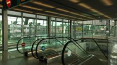 Sky Train at Dusseldorf International Airport Stock Footage