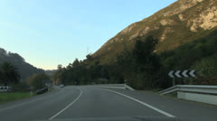 Asturias Highway fast 30 Stock Footage