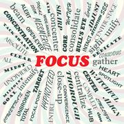 Focus Stock Illustration