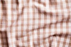 Crumpled tablecloth Stock Photos