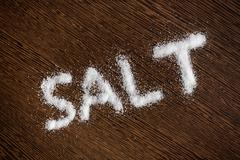 word salt - stock photo
